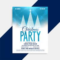 beautiful christmas party flyer template with creative tree