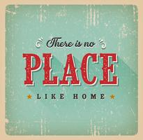There Is No Place Like Home Retro Card vector