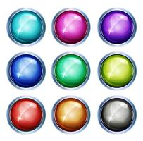 Rounded Light Icons And Buttons
