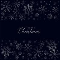 dark christmas snowflakes background design