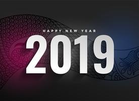 2019 nytt år dekorativt mörk bakgrund