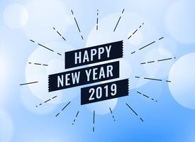 happy new year 2019 creative background