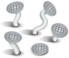 Cartoon nagels Set vector