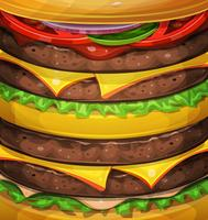 American Burger Background vector