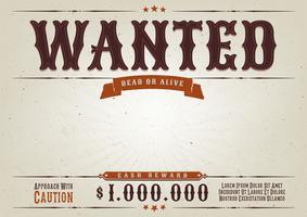Wanted Western Movie Poster