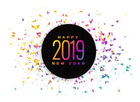 2019 celebration colorful confetti background