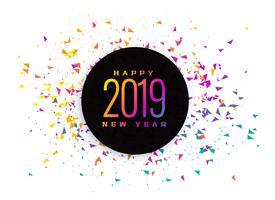 2019 celebration colorful confetti background
