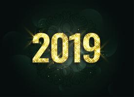 luxe stijl 2019 nieuwe jaar schittert achtergrond