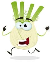 Cartoon Happy Fennel Character