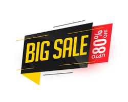 big sale stylish modern banner design