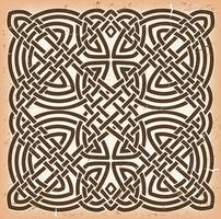 Vintage Grunge Celtic Mandala Background