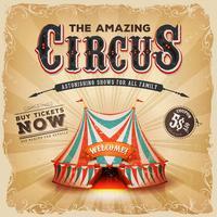 Poster velho do quadrado do circo do vintage