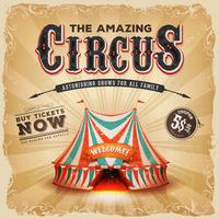 Vintage Old Circus Square Poster