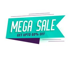 mega sale ribbon style banner design