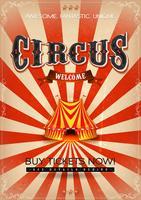 Poster de circo vintage