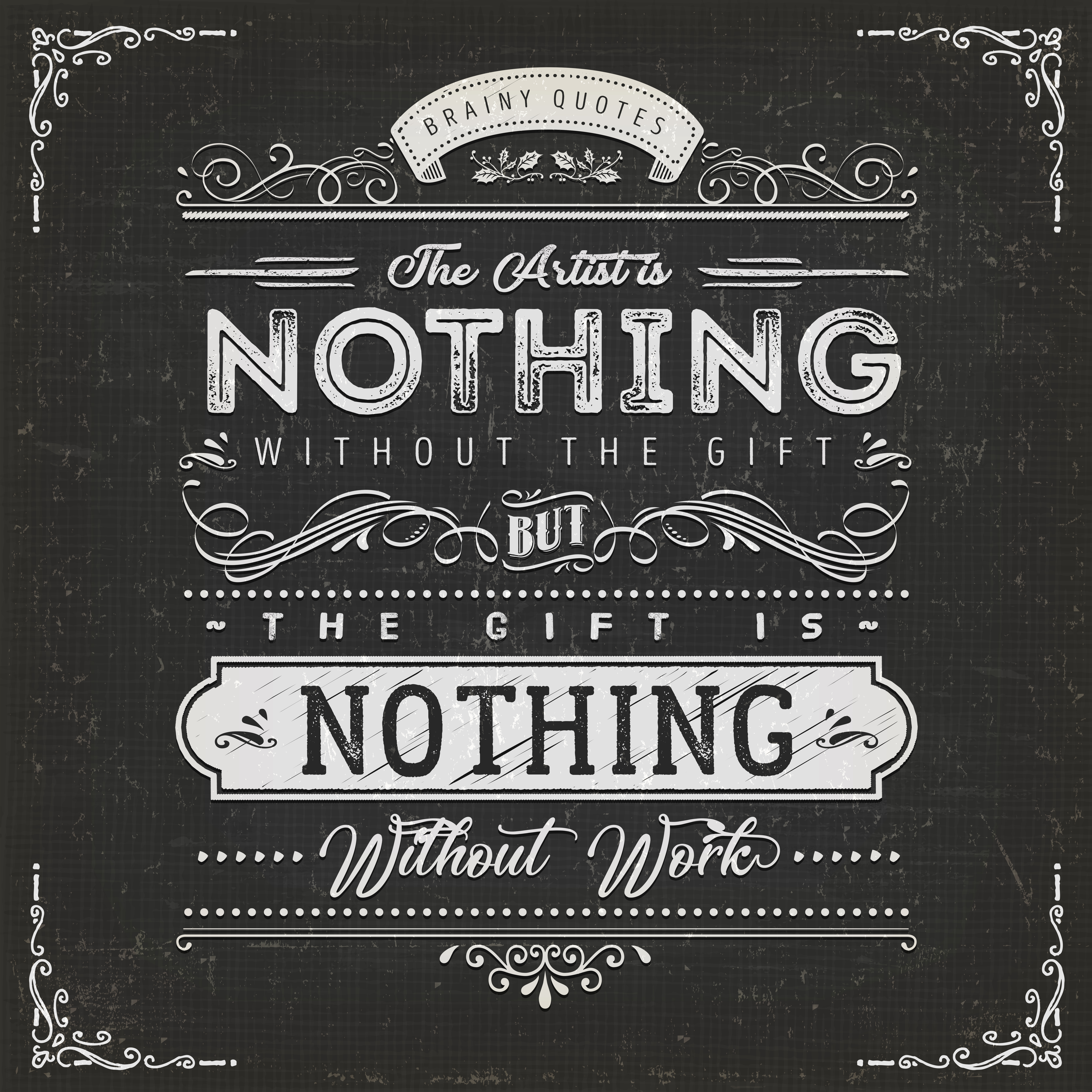 The Artist Is Nothing Without The Gift Quote Poster Download Free Vectors Clipart Graphics Vector Art