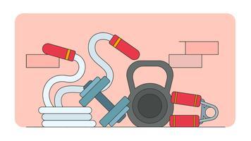 sportschool elementen vector