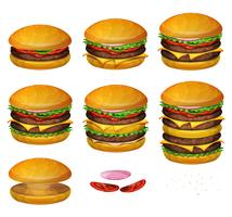 American Burgers All Size vector
