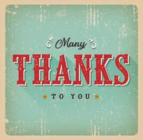 Many Thanks To You Retro Card vector