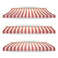 Striped Awnings Set