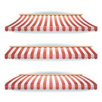 Striped Awnings Set