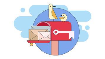 Vetor de caixa de correio