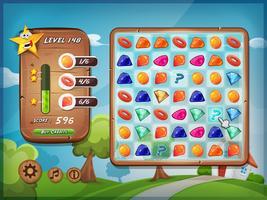 Interfaz de usuario del juego Switcher para Tablet PC