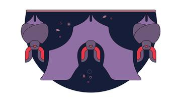 Siesta murciélagos vector