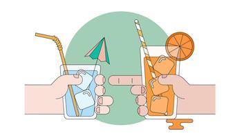 Summer Drinks Vector