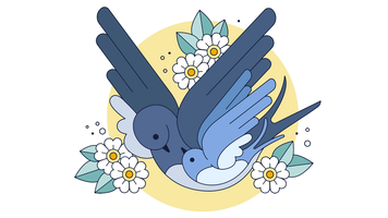 Swallows Family Vector
