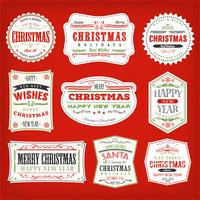 Vintage Christmas Frames, Banners And Badges