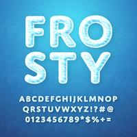 Frosty Alphabet Vector
