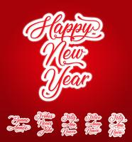 Happy New Year Lettering Card In Multilanguage