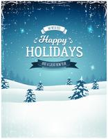 Vintage Holiday Season Landscape Background