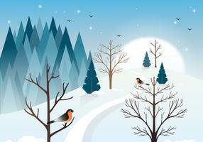 Vektor-Winterlandschaftsabbildung