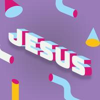 Jezus belettering vector ontwerp