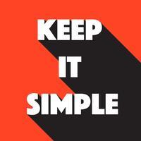 Mantenha o vetor simples