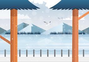 Vector Winter Landscape illustration