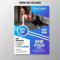 Gym Flyer Vector