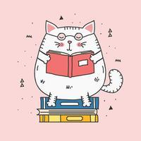 boekenwurm vector