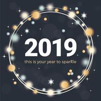 Vektor-neues Jahr-Gruß-Karten-Design