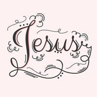 jesus hand bokstäver vektor