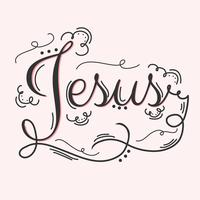 Jesus mão Lettering Vector