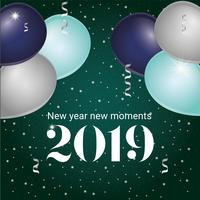 Vector New Year Greeting Card Design