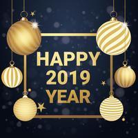 Vector Design de cartão de ano novo