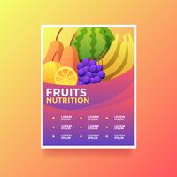 Fruits Nutrition Health Lifestyle Flyer Vector