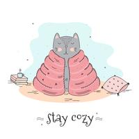 Stay Cozy Vector