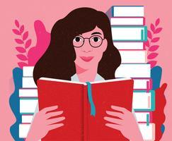 Bookworm Vector