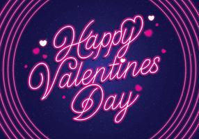 vettore di San Valentino al neon