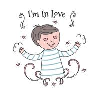 Boy In Love Vector